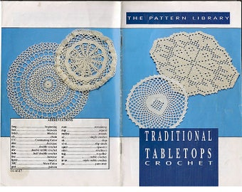 Traditional Tabletops  Crochet Pattern Book the Pattern Library 04-4617