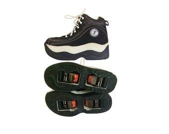 Vintage 90s Platform Sneaker Skate Shoe 90s Platform Shoe Platform Trainer Platform Tennis Shoe 90s Rave Shoe 90s Club Kid Shoe Black Shoe