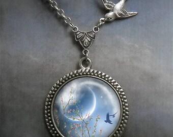 Spring Equinox Songbird necklace, Spring Equinox necklace, Wiccan necklace, pagan necklace, Wiccan jewelry pagan jewelry