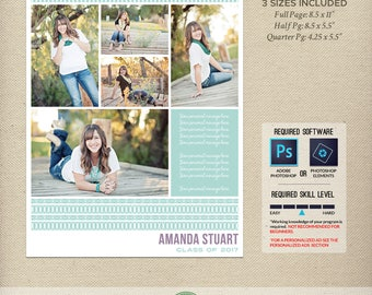Yearbook ad template | Etsy