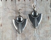 Art Deco Earrings Silver Ox Jewelry