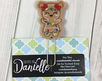 Gingerbread Girl Planner Clip, Planner Page Marker, Planner Paper Clips, Christmas Planner Clip, Cute Paper Clip