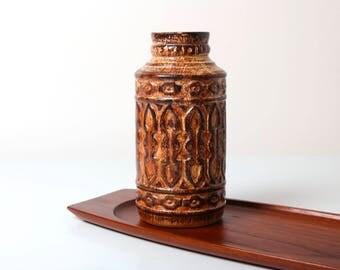 Vintage Price Kensington Athena vase, 1960s English pottery Stoke on Trent, mid century home decor, Greek key design, retro pottery vase
