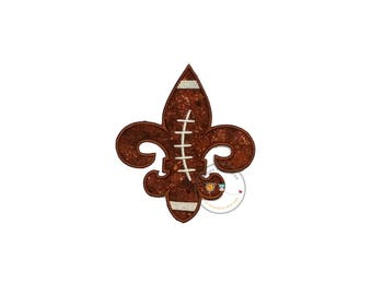 Football de la Fleur  iron on applique