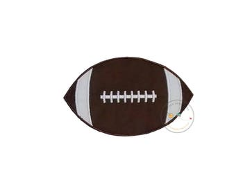 Football iron on applique, Fall sports no sew patch , Machine embroidered football fabric applique