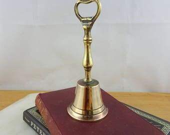 Vintage Brass Bell Bottle Opener, Retro Barware, Flip Top Cap Opener