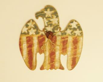 Primitive Americana Eagle Sign, Wooden Eagles, Country Farmhouse Decor