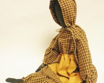 Prairie Doll, Colonial Decor, Primitive Dolls, Country Decor