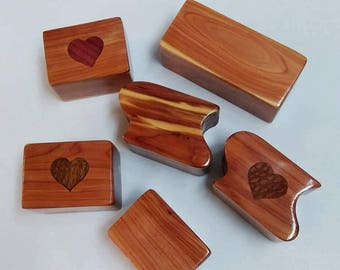 Handcrafted Cedar Trinket Boxes