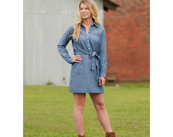 Chambray Dress, Monogrammed Gifts, Monogrammed Chambray Dress, Monogrammed Dress