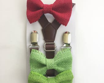 Christmas Bow tie baby Kids toddler Men Holiday Photo Prop  Bowtie Boys Church Suit bow ties Accessory Ring Bearer Groomsmen Wedding bowties