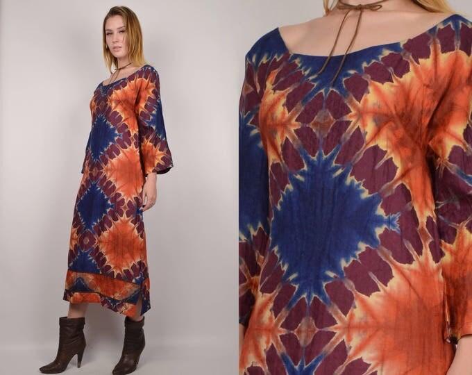 70's Tie Dye Midi Dress