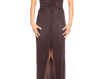 1990s Tadashi Plunging Neckline Dress Size: 4