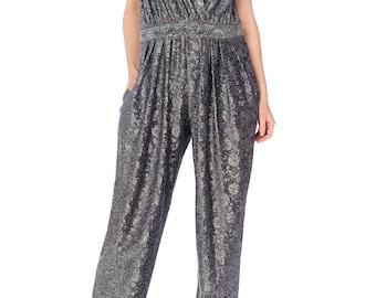 Silver Lurex Jumpsuit Size: M