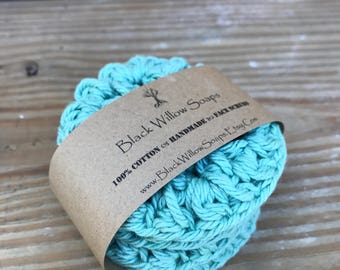 Sea Spray Eco Friendly Scrubby, Set of 4, Eco-Friendly, Cotton Scrubbies, Makeup Remover, Scrubbies, Cotton Scrubby, Face Scrubbie, Cotton