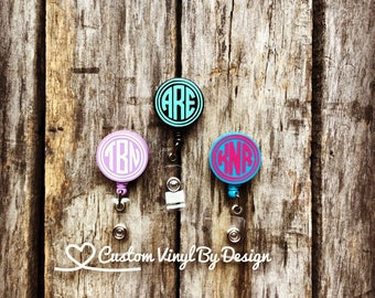 Monogram Badge Reel | Monogram Badge Holder | Monogram Badge Clip | Badge Reel | Badge Holder Retractable | Badge Reel Nurse