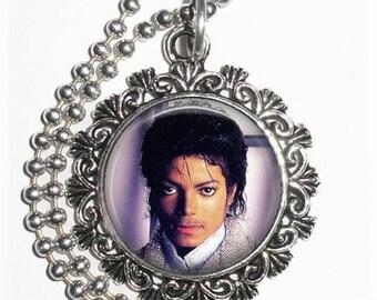 Michael Jackson Art Pendant,  The King of Pop Resin Art Pendant, Photo Pendant