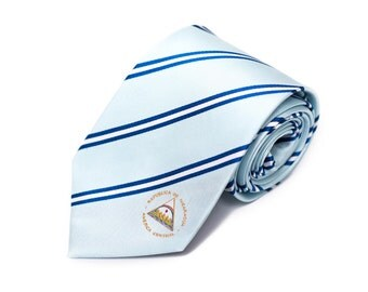 Nicaragua Tie - Inspired by the Nicaraguan Flag with Personalized Tag. Managua. LDS Missionary. Husband Gift, Missionary Gift.