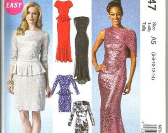 McCalls 7047 size 6 - 14 KNITS ONLY new uncut womans mix and match pieces for your own dress