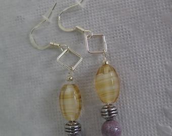 Whiskey and Grape earrings