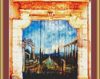 Archway In Provence 2 Cross Stitch Pattern