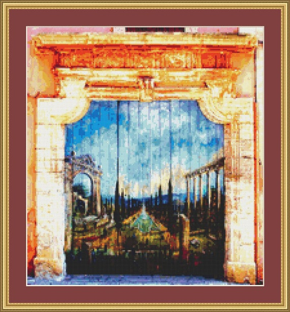 Archway In Provence 2 Cross Stitch Pattern /Digital PDF Files /Instant downloadable