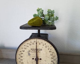 Vintage Scale Farmhouse Hanson Scale Black Industrial 60 Lbs