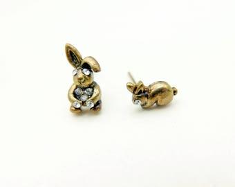 Rabbit Earrings, Rabbit Jewelry, Alice in wonderland Jewelry