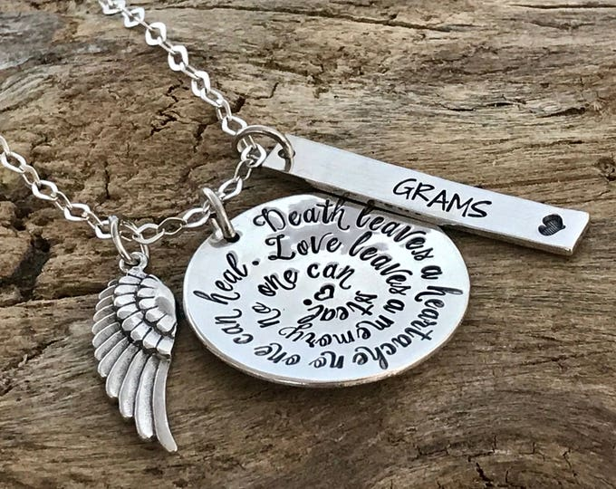 Memorial Jewelry   Custom Remembrance Necklace   Funeral Gift   Loss of husband   Loss of mom   Loss of sister   Loss of Brother