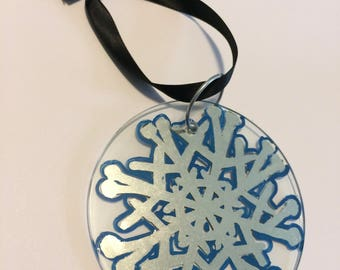 Gilded Snowflake Holiday Ornament