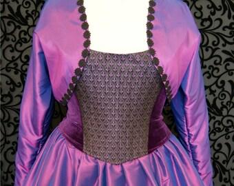Purple shot taffeta bolero jacket UK size 16 goth steampunk Victorian Obsidian SALE