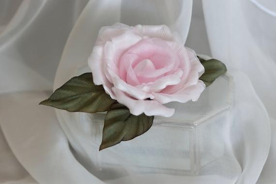 Blush Rose Hair Clip