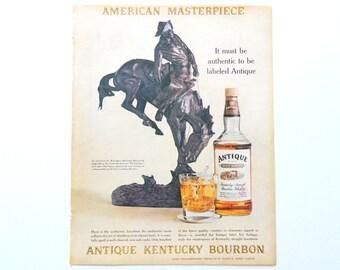 Antique Kentucky Bourbon Ad - Vintage Bar Decor Wall Art