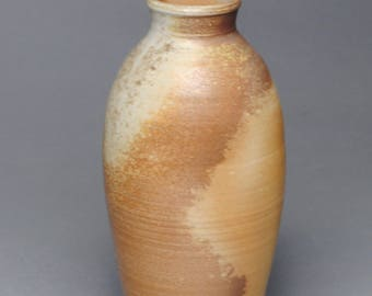 Clay Vase Bottle Wood Fired G91