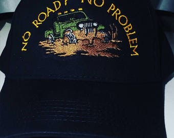 JEEP Hat Cap  H3 - Embroidered - Choose YOUR jeep COLOR & Customize with your saying