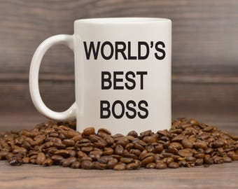 World's Best Boss Mug, Michael Scott Mug, The Office TV Show Gifts, Dunder Mifflin, Funny Mug, White Elephant, Secret Santa Gift - 1157