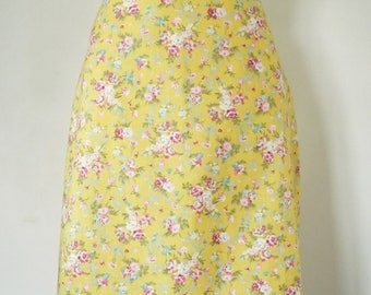 Odette yellow flowered 100% cotton skirt