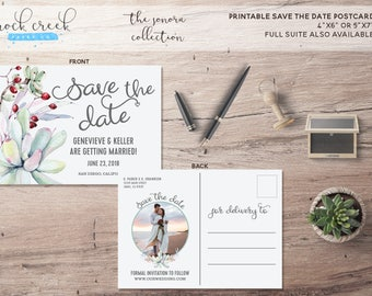 The Sonora Collection Printable Save The Date Card