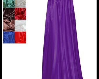 Purple Shimmer Satin Cloak lined with Shimmer Satin. Ideal for LARP LRP Medieval Cosplay Costume. Made especially for you. NEW!