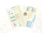 Sunflower Planner Sticker Kit for Personal Sized Planners, Mini Planner Sticker Kit