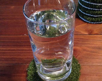Artificial Grass Coasters - Set of 6