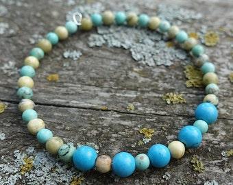 Turquoise & Magnesite Bracelet