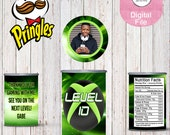 Video Game Pringles-Custom Pringles-Custom Chips-Video Game Party-XBox Party