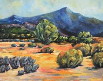 Landscape Desert Painting - Original Oil Painting  - Desert Landscape - 20 x 24