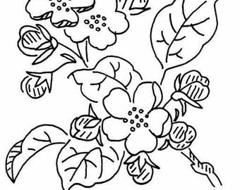 Vintage State Flower - ARKANSAS - Apple Blossom