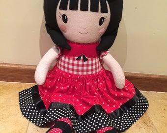 """OOAK Cloth Doll 21"""""""