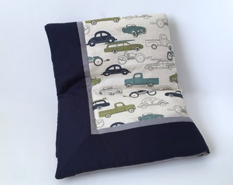 Felix Retro Rides BABY QUILT BLANKET - Vintage Cars Baby Blanket - Baby Boy Blanket - Retro Rides Toddler Blanket - Made-To-Order