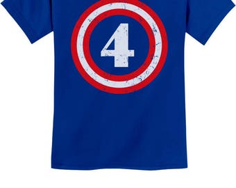 Captain 4th Birthday - Gift for Four Years Old Youth Kids T-Shirt