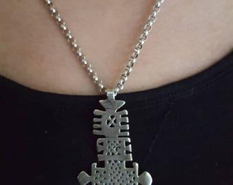 Large Ethiopian cross pendant