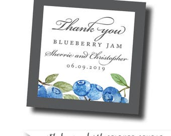Blueberry favor labels, blueberry jam labels, blueberry preserves packaging